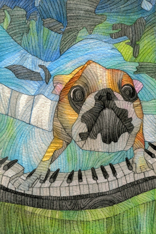 UnderwatervPiano Dog by The Lovely Wars